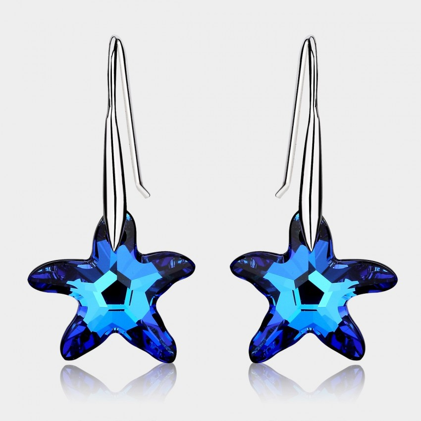 Caromay Sea Star Sapphire Earrings (E1005)