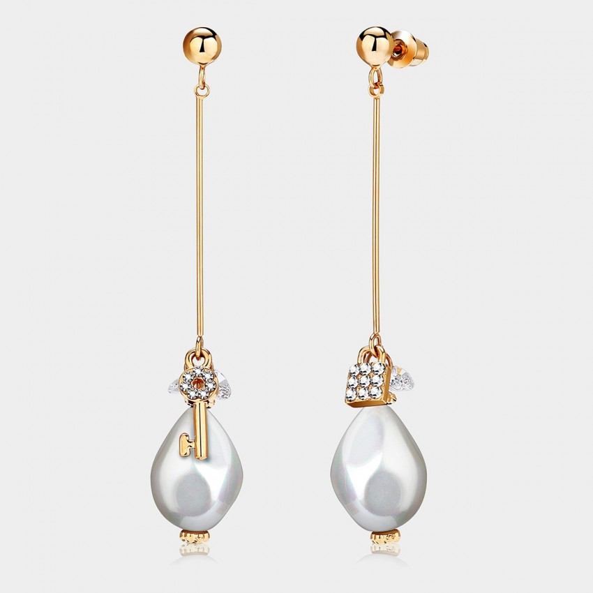 Caromay Locker Pearl White Earrings (E1113)