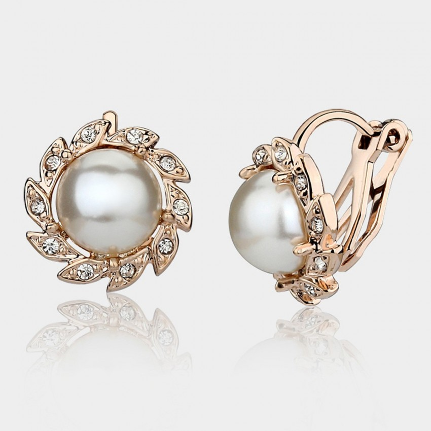 Caromay U-look Pearl Champagne Gold Earrings (E3895)