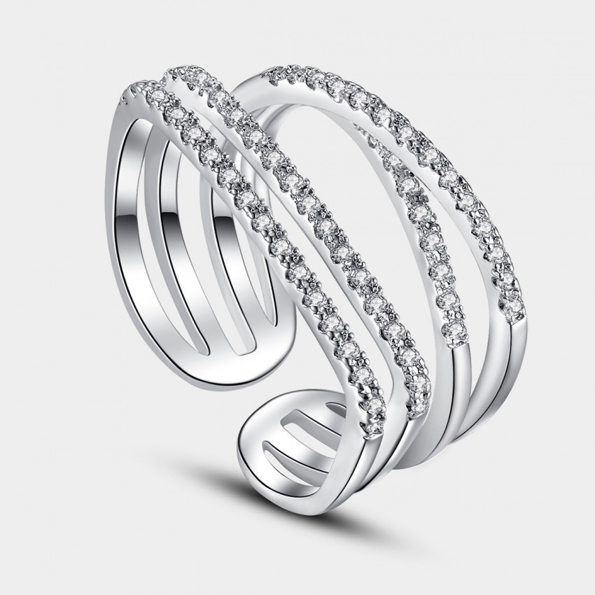 Caromay Interlock Silver Ring (J0132)