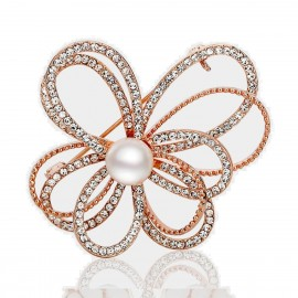 Caromay Motion Trail Rose Gold Brooch (T0227)