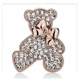 Caromay Cute Bear Rose Gold Brooch (T1100)