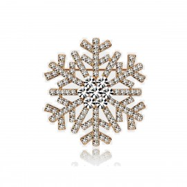 Caromay Snowflake White Brooch (T1103)