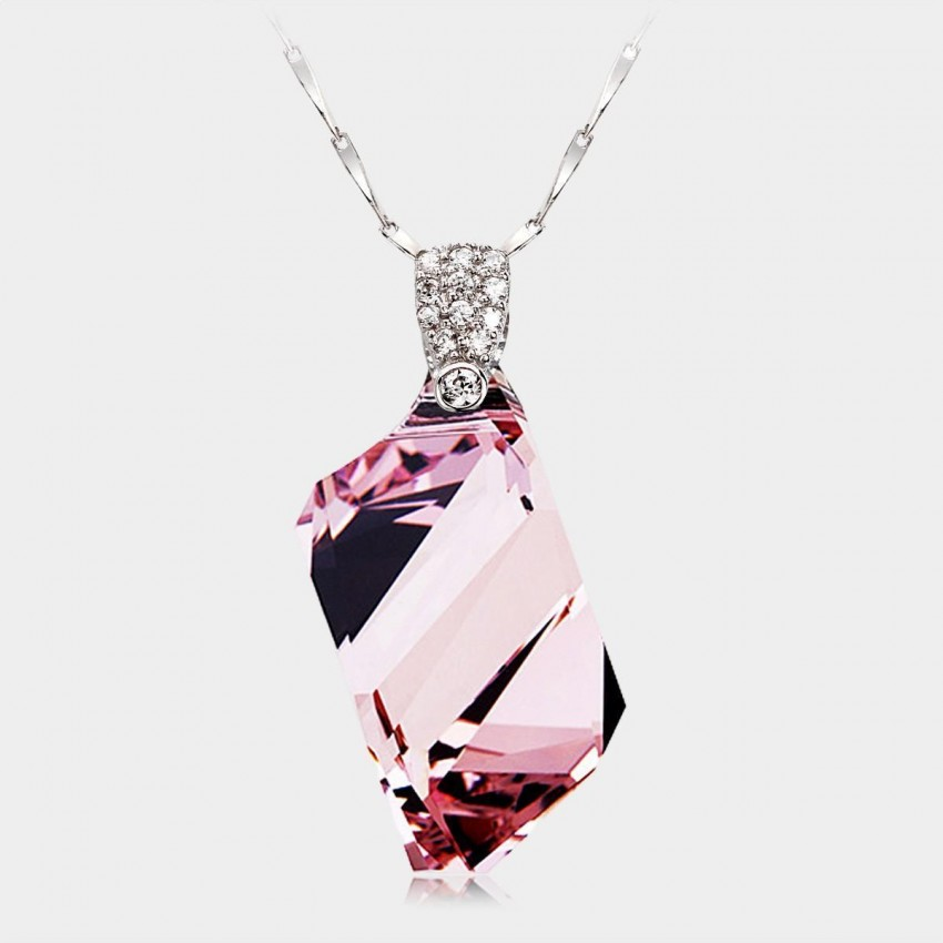 Caromay CLEAR Purple Necklace (X0035)