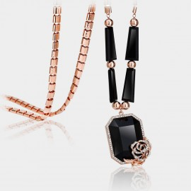 Caromay Love Punch Rose Gold Long Chain (X0232)
