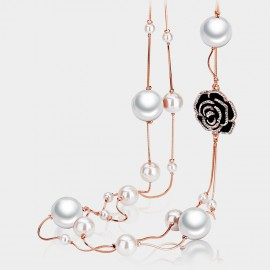 Caromay Lustrous Rose White Long Chain (X0279)