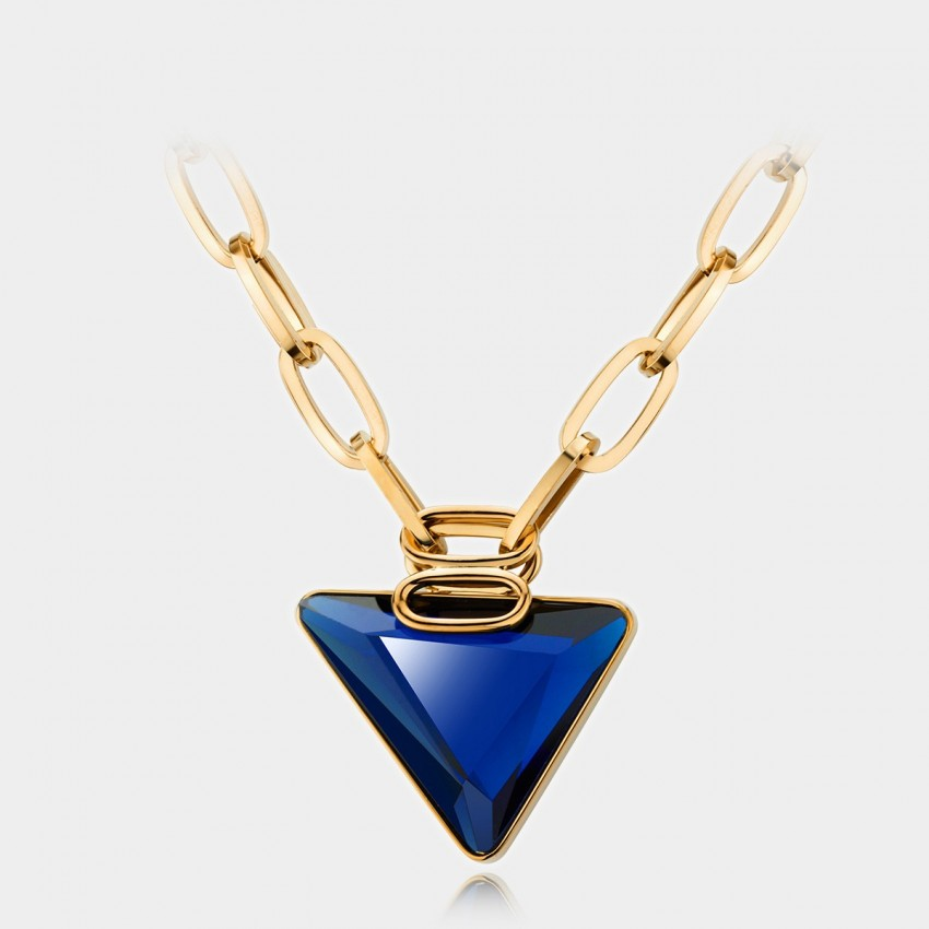 Caromay Classic Triangle Sapphire Necklace (X0298)