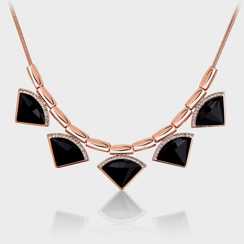 Caromay Noble Vintage Fan Rose Gold Necklace (X0315)