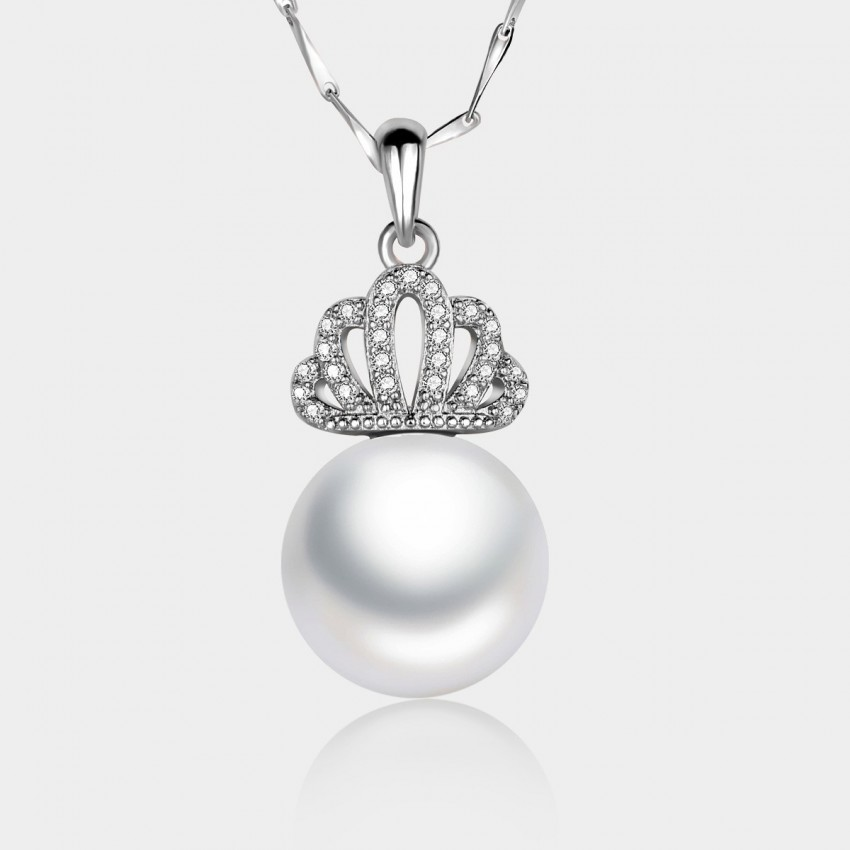Caromay Royal Crown Silver Necklace (X0358)
