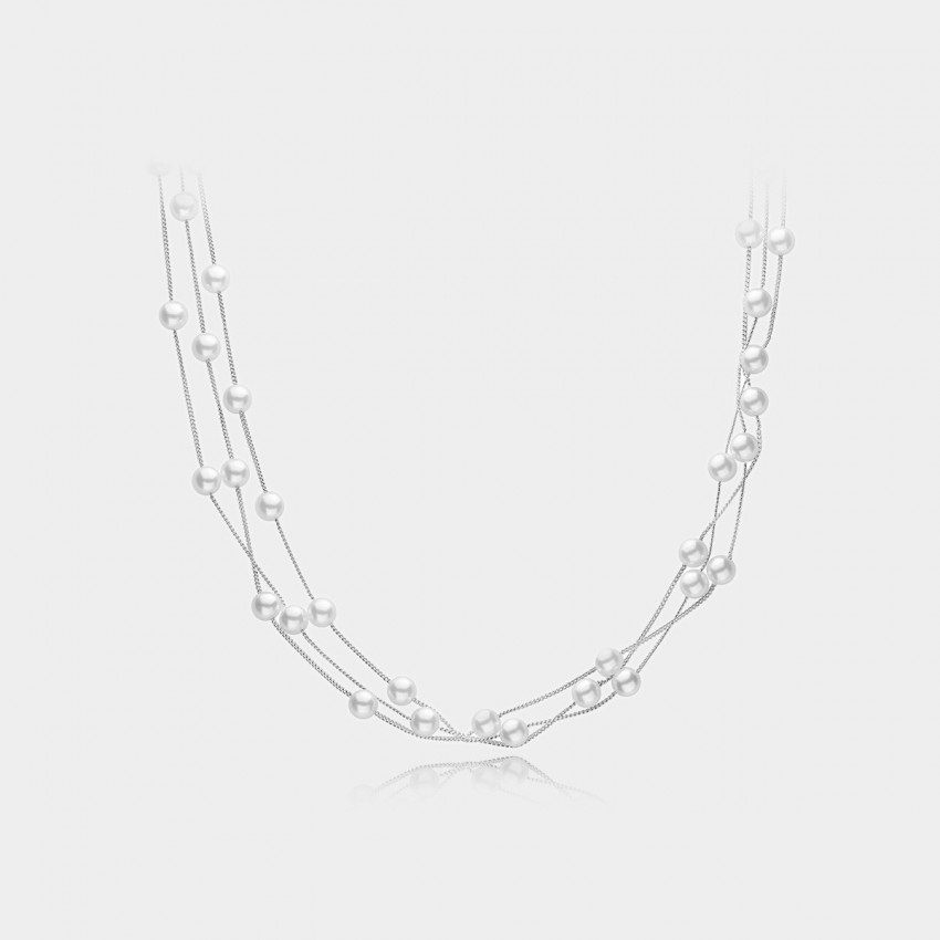 Caromay Love Nest Silver Necklace (X0456)