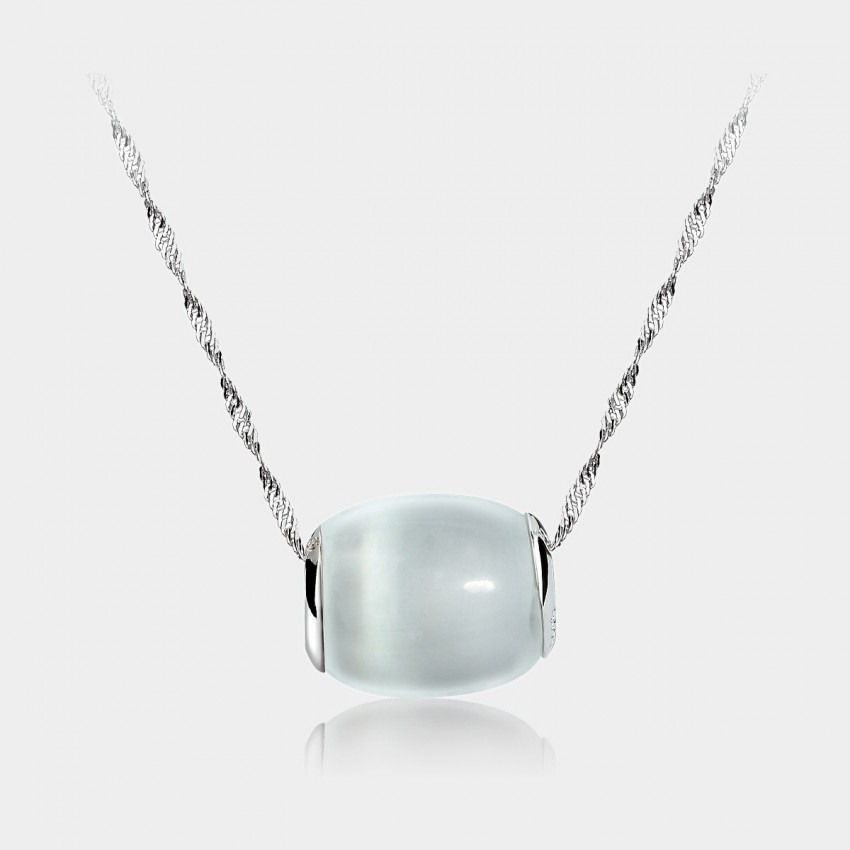 Caromay Lucky Stone Silver Necklace (X1006)