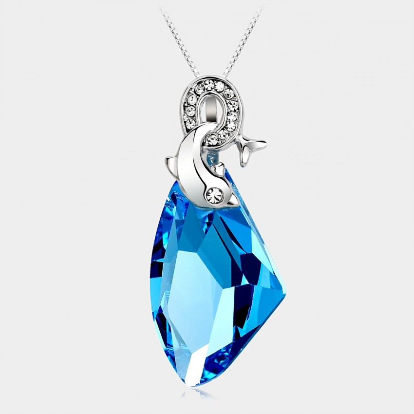 Caromay Dolphin Bay Sapphire Necklace (X1023)