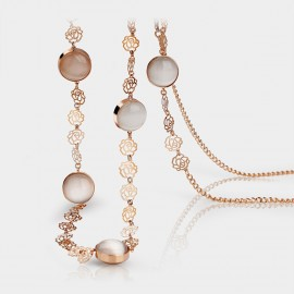 Caromay Flowery Vines Champagne Gold Long Chain (X1040)