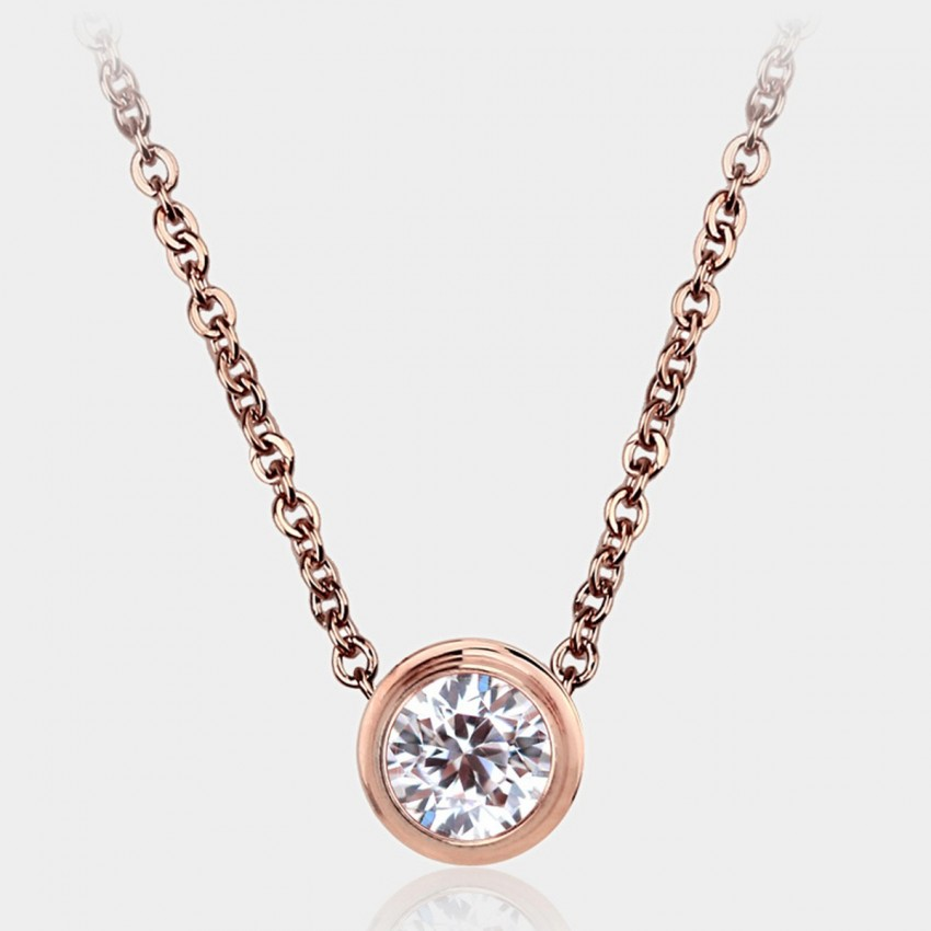 Caromay Origin of Love Rose Gold Necklace (X3377)